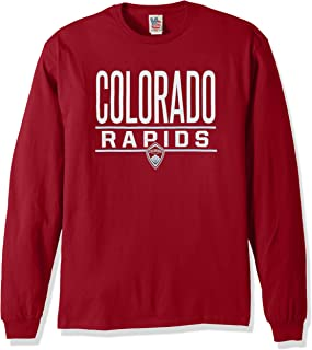 Junk Food MLS Colorado Rapids Men's Long Sleeve Tee, Medium, Card