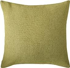Deconovo Faux Linen Throw Pillow Case Cushion Cover for Sofa, 18x18 Inch, Citronelle Green
