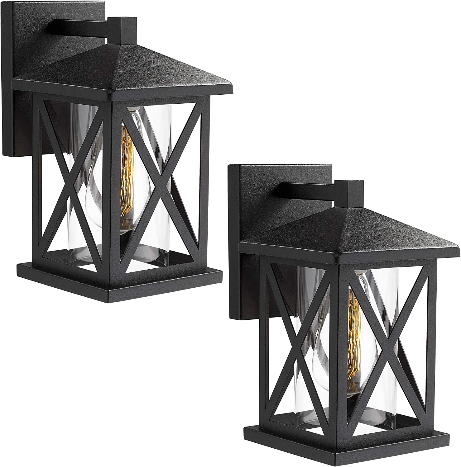 JAZAVA Max 59% At the price of surprise OFF Outdoor Wall-Mount Light Exter 2-Pack Fixtures Industrial
