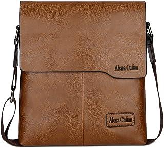 Shoulder Bag Business Man Bag Messenger Bag for Men Crossbody Bag(khaki)