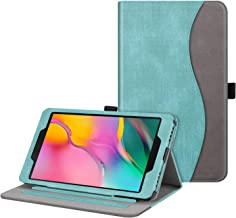 Fintie Case for Samsung Galaxy Tab A 8.0 2019 Without S Pen Model (SM-T290 Wi-Fi, SM-T295 LTE), [Corner Protection] Multi-Angle Viewing Stand Cover with Packet, Turquoise/Brown