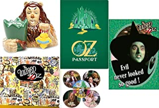 Wicked Witch + Courage of the Lion Wizard of Oz Figure Pack starring Dorothy Cowardly Lion Salt & Pepper Shakers Figurine officially licensed pack stickers yellow Brick Road Passport Book & Magnet set