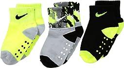 Nike Kids - 3-Pair Pack Primal Cuff Grippies (Infant/Toddler)