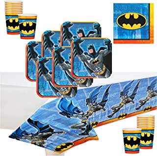 amscan Batman Deluxe Party Supply Pack for 16 Guests.