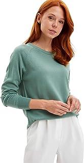 DeFacto Dames Regular Fit lange mouwen met tricot hals voor vrouwen tricottrui gebreid lichte lange mouwen basic damestrui