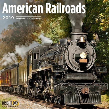 American Railroads 2019 16 Month Wall Calendar 12 x 12 Inches