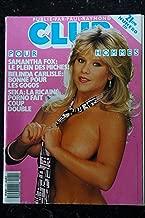 Club Pour Hommes 021 N° 21 COVER SAMANTHA FOX BLANCHE CARLY ET SIMONE ELSA MONICA BELINDA CARLISLE