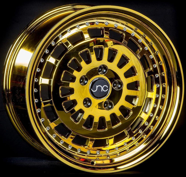 JNC Wheels  19  JNC046 Platinum gold Rim  5x112  19x11 inch