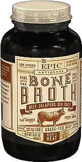 EPIC Beef Jalapeno Sea Salt Bone Broth, Keto Friendly, Paleo Friendly, 14 fl oz (Pack of 6)