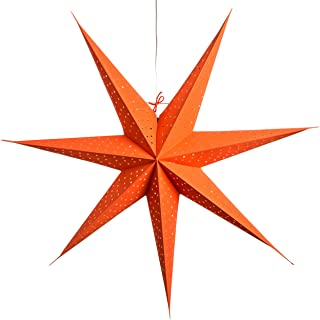 Radius Orange Paper Star Lantern with 12 Foot Power Cord Included