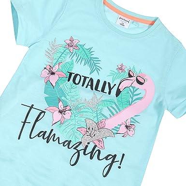 Girls Fun Print Sloth//Flamingo Short Sleeve Nightdress