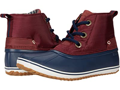 Sperry Schooner 3-Eye Twill Nylon (Cordovan/Navy) Women