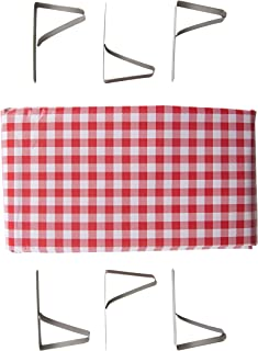 Stansport Picnic Table Cloth with Clamps Combo Pack