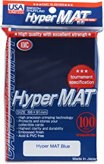 KMC Hyper Matte Blue 100-count Standard Size Sleeves Pack [USA Packaging]
