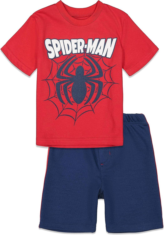 Marvel Avengers Spiderman Toddler T-Shirt Shorts 4 Bombing new work Very popular Mesh and Set