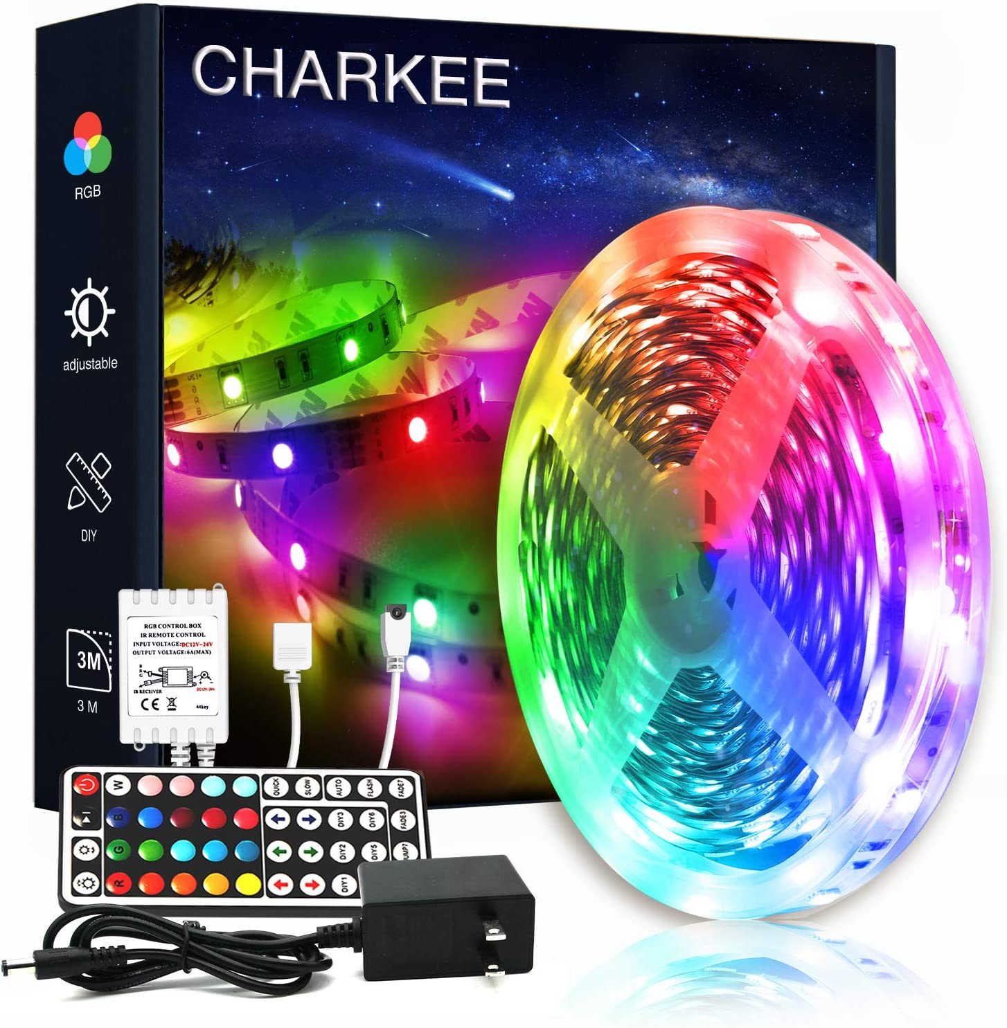 CHARKEE Led Lights for Bedroom 16.4ft Max 84% OFF Ligh of Roll 1 Safety and trust