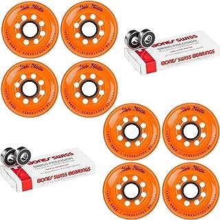 Labeda Inline Roller Hockey Skate Wheels Addiction Orange 80mm 8 Set Bones Swiss