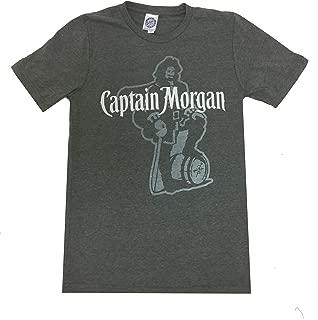 Beer Gear Faded Captain Morgan Rum Logo Short Sleeve T-Shirt