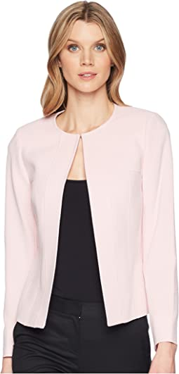 Crepe Open Front Jacket