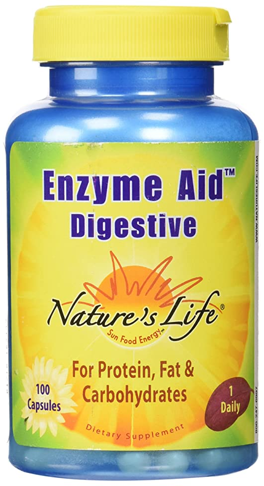 Nature's Life Enzyme Aid Digestive , 100 Capsules