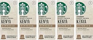 Starbucks 星巴克 肯尼亚胶囊咖啡 兼容Nespresso咖啡机(5包,共50个胶囊)