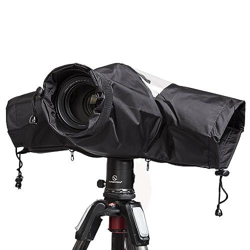 Modest Waterproof Camera Rain Cover Coat Bag Protector Rainproof Raincoat Against Dust For Canon Nikon Sony Dslr Cameras Digital Gear Bags