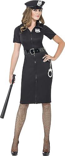 Smiffys 43864X1 Constable-Cutie-Kostüm, XL, Schwarz