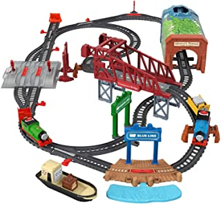 Thomas & Friends Talking Thomas & Percy Train Set, Motorized Train and Track Set for Preschool Kids Ages 3 Years and Older