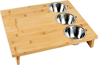 Large 18'' x 15'' Bamboo kitchen cutting/chopping board with 3 large stainless steel bowls, cutting boards for kitchen, Cheese serving tray, Party serving tray