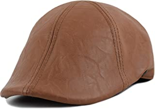 leather newsboy hats
