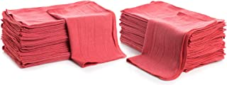 """Cleaning Solutions Shop Towels (Pack of 50) 12"""" X 14"""" Reusable Cotton Towels - Perfect for Cleaning, Mechanic, Auto and Ho..."""