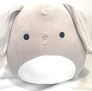"Squishmallows Tan Grey Greige Floppy Ear Bunny Valentina 13"" Tall"