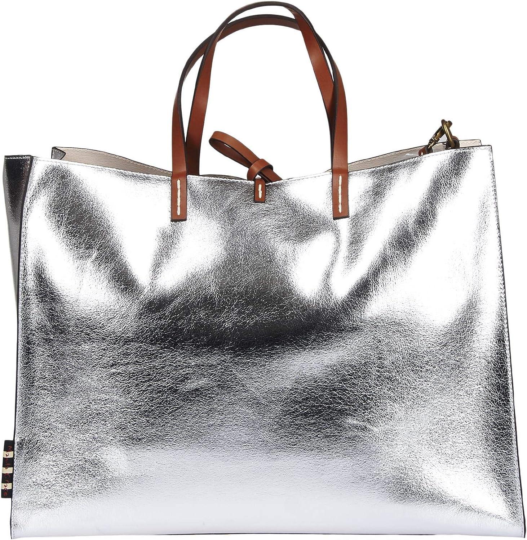 MANILA GRACE , Damen Umhängetasche Silber Silber schwarz B07P6XJVT7 B07P6XJVT7 B07P6XJVT7 147e36