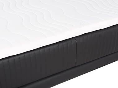 Beliani - Lit Boxspring - Madame - 140 x 200 cm, en Simili-Cuir, Noir
