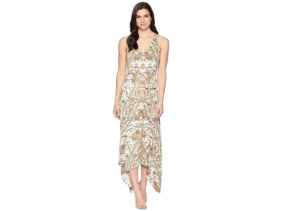 Lucky Brand V-Neck Maxi Dress (Multi) Women
