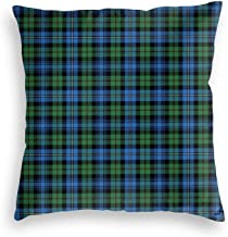 Robertson Hunting Tartan Velvet Soft Cushion Covers Square Throw Pillowcases for Sofa Bedroom Car with Invisible Zipper 18...