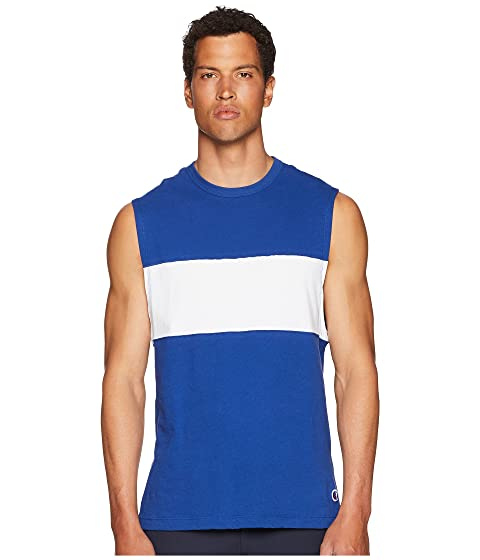 TODD SNYDER Color Block Muscle Tee, Blue