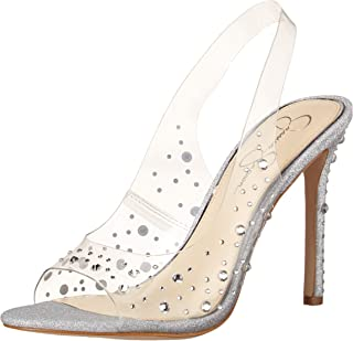 Jessica Simpson womens Jaisey Pump, Clear/Clear, 5.5 US