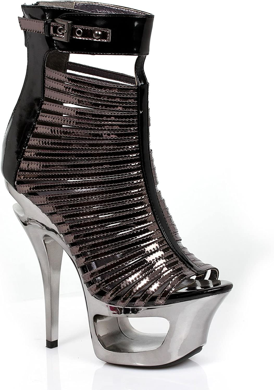 6 Metallic Cut Out Heel