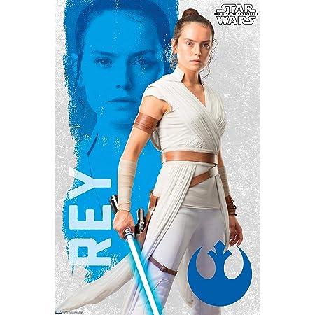 - Rey Daisy Ridley v8 24x36 Star Wars The Force Awakens Movie Poster