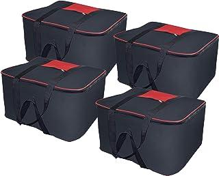 Storite Big Underbed Moisture Proof Storage Bag,(54 x 46 x 28 cm) -4 Pack Black