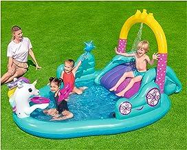 ZHMIAO Parque acuático de Unicornio Piscillas de Remo Inflable para niños, Piscinas, bebé Kiddie Piscillas para niños Piscina Inflable Familia Pool Pool Pool para niños peq