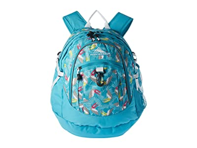 High Sierra Fat Boy Backpack (Toucan/Tropic Teal/White) Backpack Bags