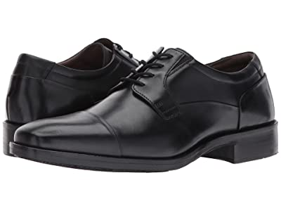 Johnston & Murphy Lancaster Dress Cap Toe Oxford (Black Full Grain) Men