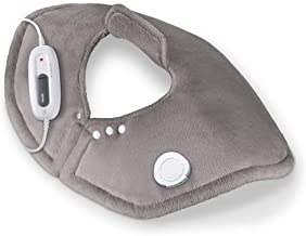 Beurer Portable Shoulder Heating pad, 6 Temperature Settings, Extra Soft Surface, Skin Friendly | UHP54, Grey