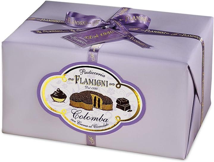 Colomba pasquale farcita con crema pasticcera al cioccolato fondente 950 gr flamigni B01BQD041Y
