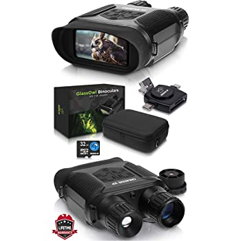 Digital Night Vision Binoculars 7x31mm-400m//1300ft Viewing Range and Super Large 4/'/' Viewing Screen Infrared Scope in Full Dark