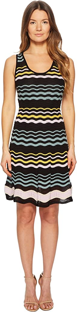 1290ba1ec85c80 Color Block Ripple Dress