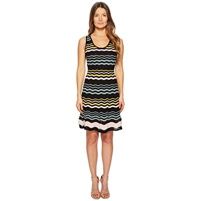 M Missoni Color Block Ripple Dress (Black) Women