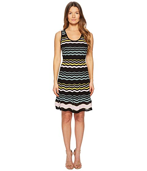 M Missoni Color Block Ripple Dress